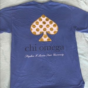Comfort Colors Chi Omega Shirt